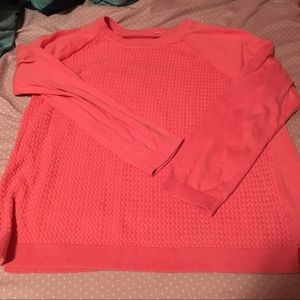 Sonoma xl Coral sweater fall xl crew neck scoop